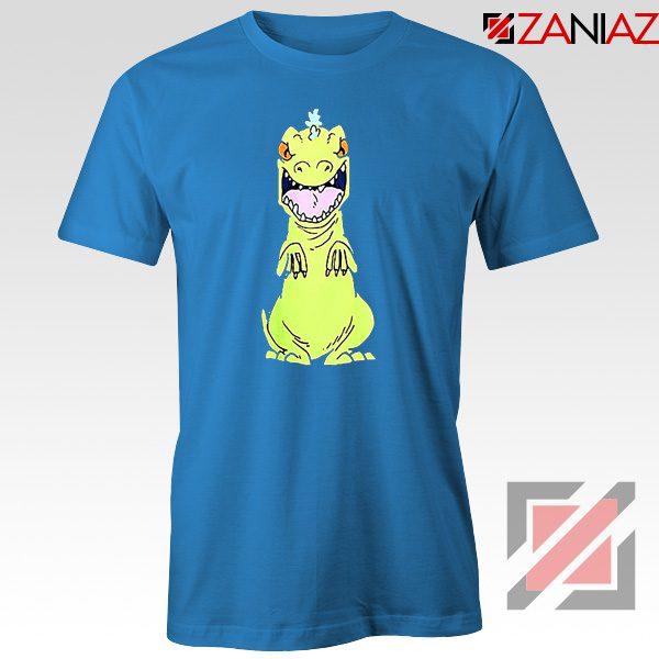 Rugrats Reptar T-Shirt Nickelodeon Reptar Cartoon T-Shirt Size S-3XL Blue