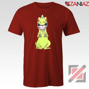 Rugrats Reptar T-Shirt Nickelodeon Reptar Cartoon T-Shirt Size S-3XL Red
