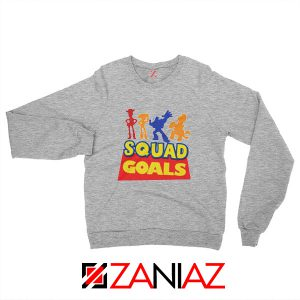 Toy Story Squad Goals Sweatshirt Disney Picture Sweatshirt Size S-2XL Grey