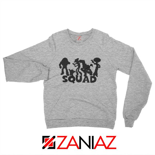Toy Story Squad Graphic Sweatshirt Disney Pixar Sweatshirt Size S-2XL Grey