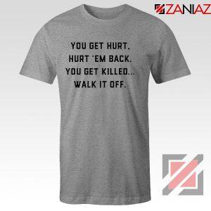 Walk It Off Quote Tshirt Avengers Captain America T-Shirt Size S-3XL Sport Grey