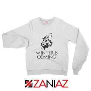 Winter Is Coming Sweatshirt Game Of Thrones Sweatshirt Size S-2XL White