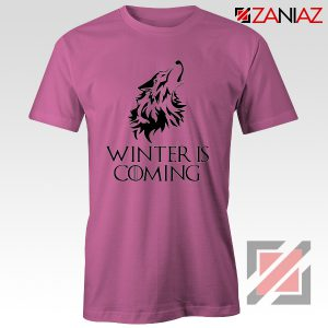 Winter Is Coming Tee Shirt Game Of Thrones Cheap Tshirt Size S-3XL Pink