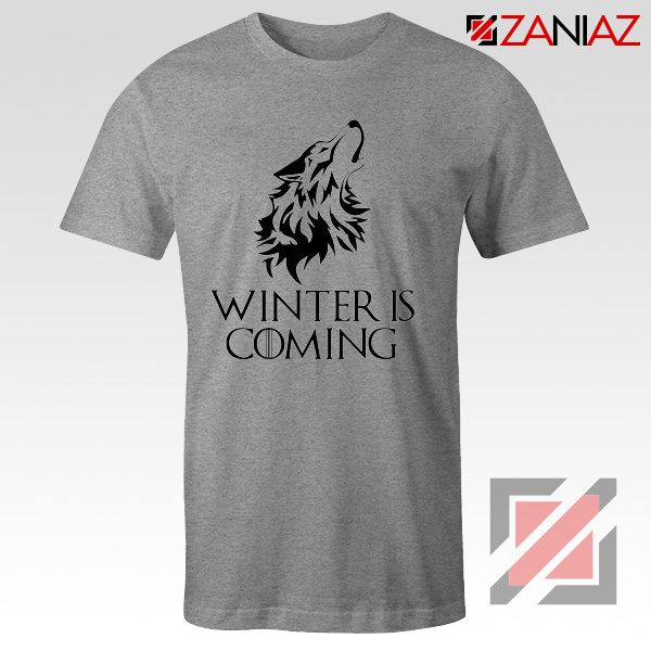 Winter Is Coming Tee Shirt Game Of Thrones Cheap Tshirt Size S-3XL Sport Grey