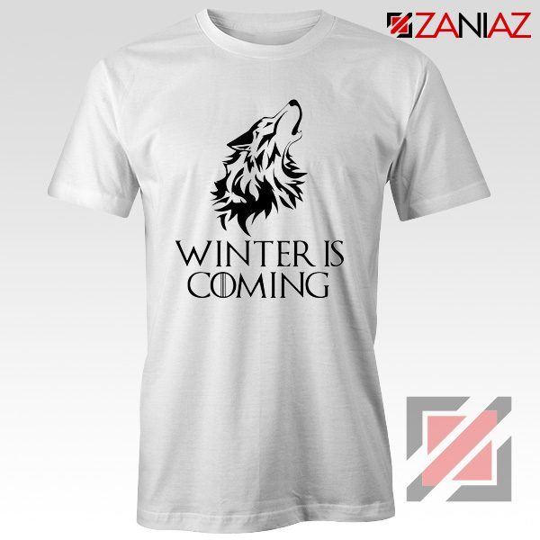 Winter Is Coming Tee Shirt Game Of Thrones Cheap Tshirt Size S-3XL White