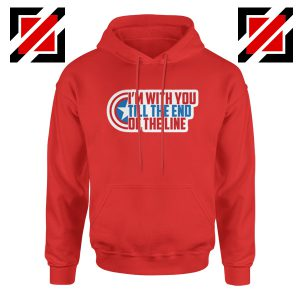 Winter Soldier I With You Till The End Of The Line Hoodie Size S-2XL Red