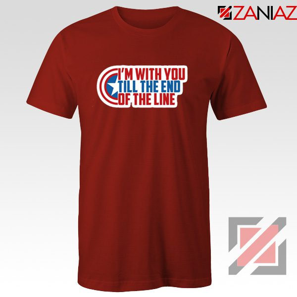Winter Soldier I With You Till The End Of The Line T-Shirt Size S-3XL Red