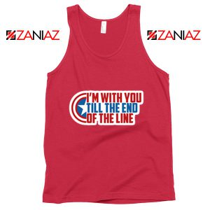 Winter Soldier I With You Till The End Of The Line Tank Top Size S-3XL Red