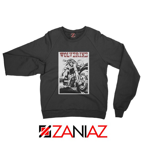 Wolverine Biker Sweatshirt Marvel X-Men Sweatshirt Size S-2XL Black