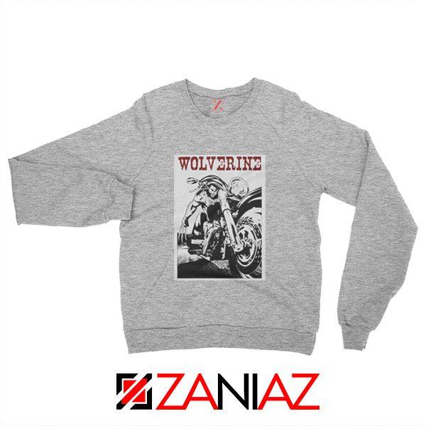 Wolverine Biker Sweatshirt Marvel X-Men Sweatshirt Size S-2XL Grey