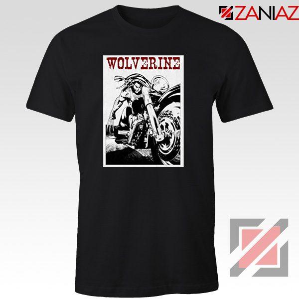 Wolverine Biker T-Shirt Marvel X-Men Cheap T-shirt Size S-3XL Black