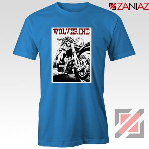 Wolverine Biker T-Shirt Marvel X-Men Cheap T-shirt Size S-3XL Light Blue