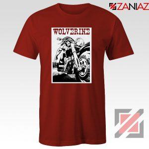 Wolverine Biker T-Shirt Marvel X-Men Cheap T-shirt Size S-3XL Red