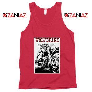 Wolverine Biker Tank Top Marvel X-Men Tank Top Size S-3XL Red