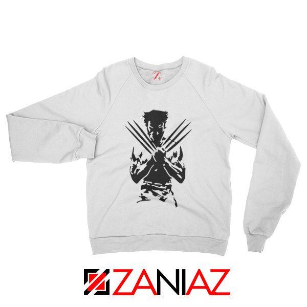Wolverine Sweatshirt Marvel Comics Men's Sweatshirt Size S-2XL White