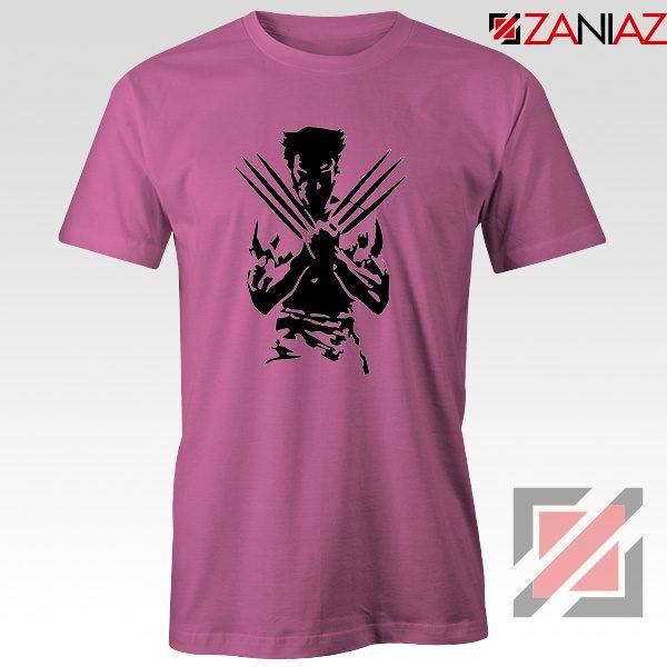 Wolverine T-shirts Marvel Comics Men's Tee Shirt Size S-3XL Pink