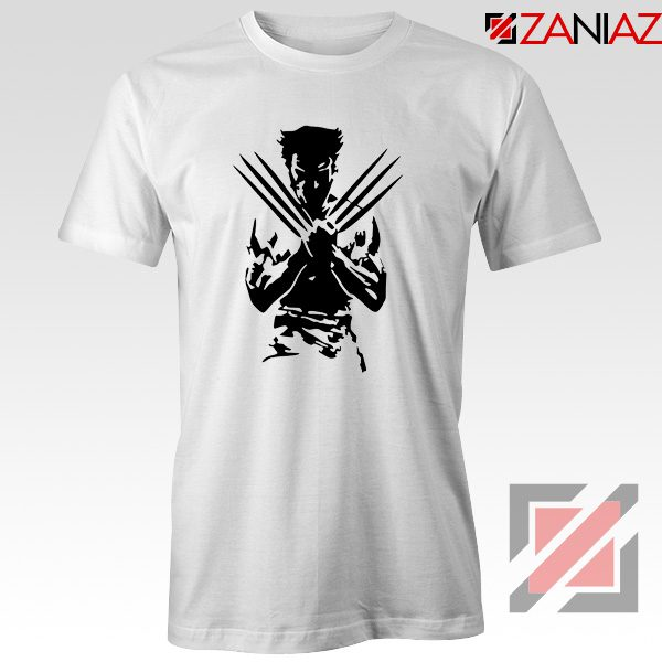 Wolverine T-shirts Marvel Comics Men's Tee Shirt Size S-3XL White