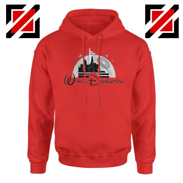 World Domination Best Hoodie Disney Funny Hoodie Size S-2XL Red