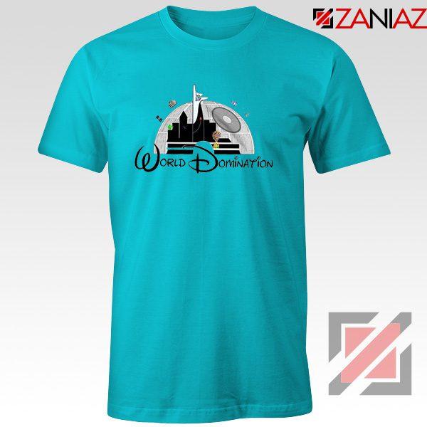 World Domination Best T-Shirts Disney Funny Tee Shirt Size S-3XL Light Blue