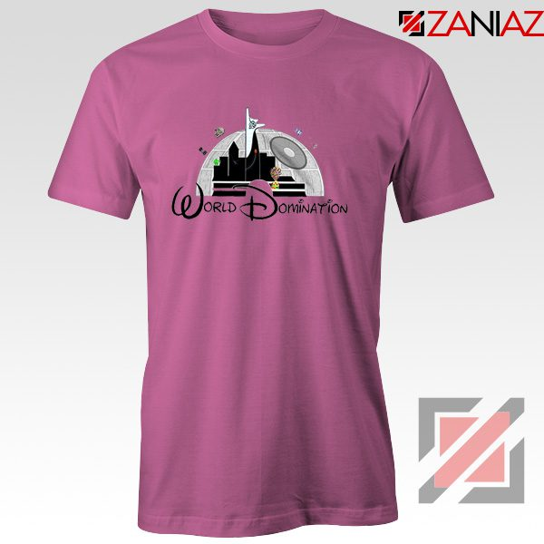 World Domination Best T-Shirts Disney Funny Tee Shirt Size S-3XL Pink