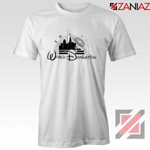 World Domination Best T-Shirts Disney Funny Tee Shirt Size S-3XL White