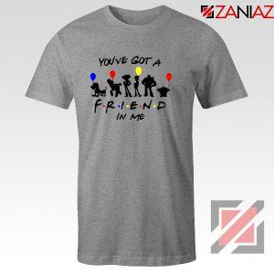 You've Got a Friend in Me Toy Story Disney Best T-Shirt Size S-3XL Grey