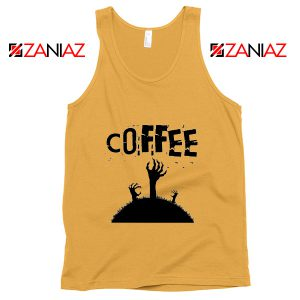 Zombie Coffee Tank Top Walking Dead Best Tank Top Size S-3XL Sunshine