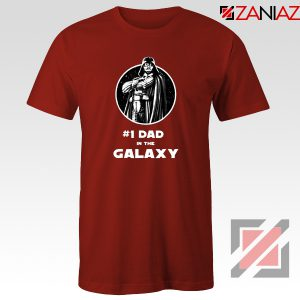 1 Dad In The Galaxy Tee Shirt Star Wars Design T-Shirt Size S-3XL Red