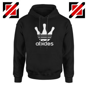 Abides Adidas Parody Hoodie The Big Lebowski Movie Hoodie Size S-2XL Black