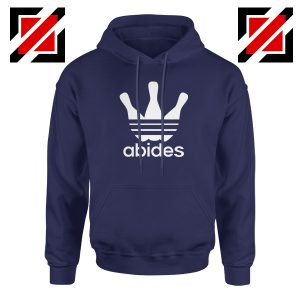 Abides Adidas Parody Hoodie The Big Lebowski Movie Hoodie Size S-2XL Navy Blue