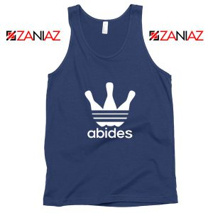 Abides Adidas Parody Tank Top The Big Lebowski Movie Tank Top Navy Blue