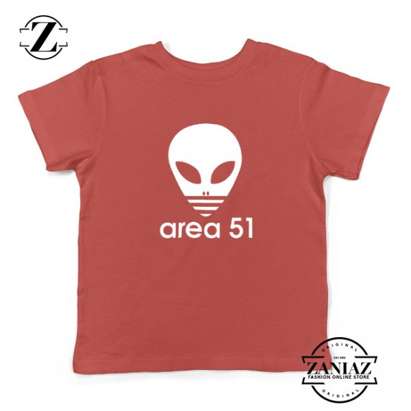 Area 51 Alien Funny Adidas Logo Parody Kids T-Shirt Red