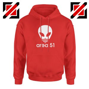 Area 51 Alien Hoodie 3 Stripe Adidas Logo Parody Hoodie Size S-2XL Red