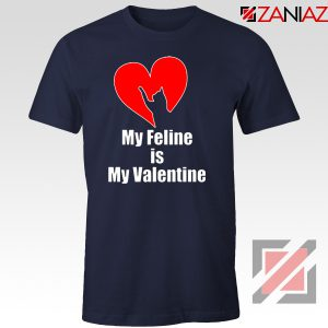 Best Cat Valentine Tshirt Valentine Gift for Women Tshirt Size S-3XL Navy Blue