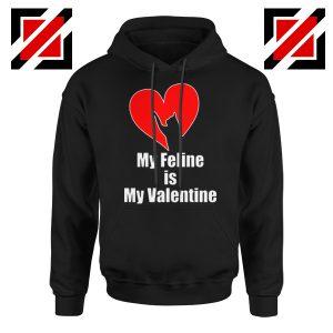 Best Cat valentine Hoodie Valentine Gift for Women Hoodie Size S-2XL Black