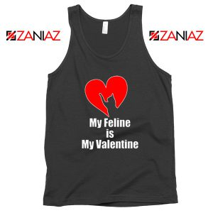 Best Cat valentine Tank Top Valentine Gift for Women Tank Top Black