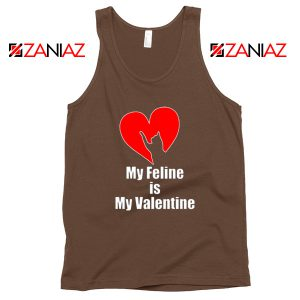Best Cat valentine Tank Top Valentine Gift for Women Tank Top Brown