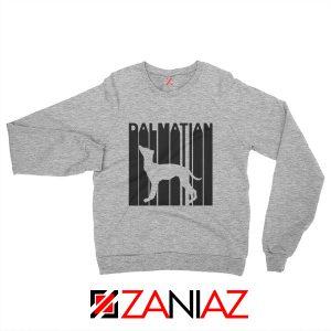 Best Dalmatian Animal Sweatshirt Funny Animal Sweatshirt Size S-2XL Sport Grey