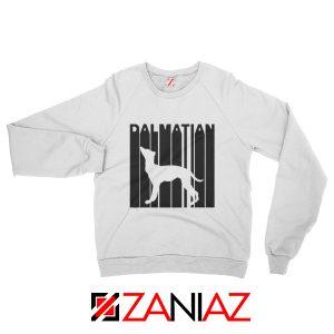Best Dalmatian Animal Sweatshirt Funny Animal Sweatshirt Size S-2XL White