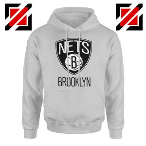 Best Gift Brooklyn Nets Logo Hoodie NBA Hoodie Size S-2XL Sport Grey