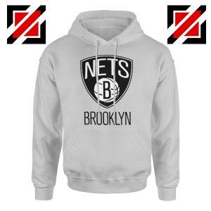 Best Gift Brooklyn Nets Logo Hoodie NBA Hoodie Size S-2XL Sport Grey