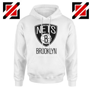 Best Gift Brooklyn Nets Logo Hoodie NBA Hoodie Size S-2XL White