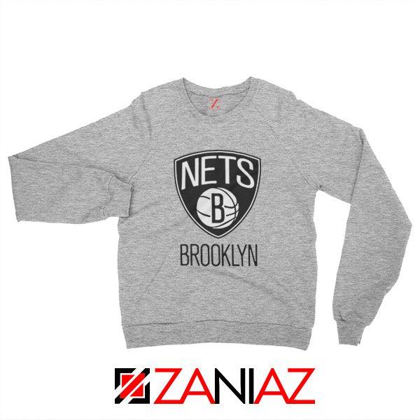 Best Gift Brooklyn Nets Logo Sweatshirt NBA Sweatshirt Size S-3XL Sport Grey