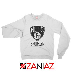 Best Gift Brooklyn Nets Logo Sweatshirt NBA Sweatshirt Size S-3XL White