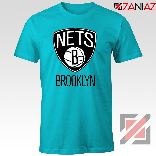 Best Gift Brooklyn Nets Logo T-Shirt NBA Tee Shirt Size S-3XL Light Blue