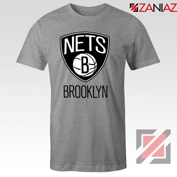 Best Gift Brooklyn Nets Logo T-Shirt NBA Tee Shirt Size S-3XL Sport Grey