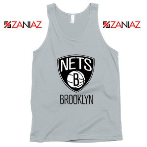 Best Gift Brooklyn Nets Logo Tank Top NBA Tank Top Size S-3XL Silver