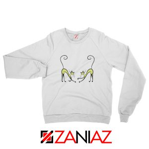 Best Kitten Twins Sweatshirt Cat Lover Gift Sweatshirt Size S-2XL White