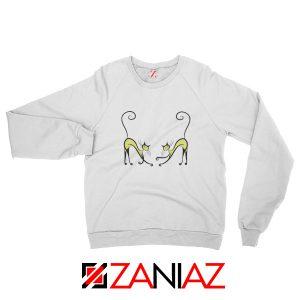 Best Kitten Twins Sweatshirt Cat Lover Gift Sweatshirt Size S-2XL White