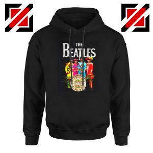Best Lonely Hearts Band Hoodie The Beatles Hoodie Size S-2XL Black